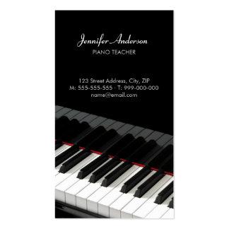 El piano cierra la tarjeta de la industria musical tarjetas personales