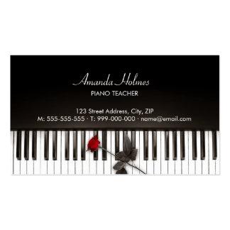 El piano cierra la tarjeta de la industria musical tarjetas de negocios