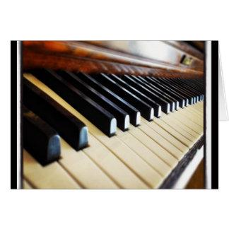 El piano cierra los regalos Notecards de la música Tarjeta Pequeña