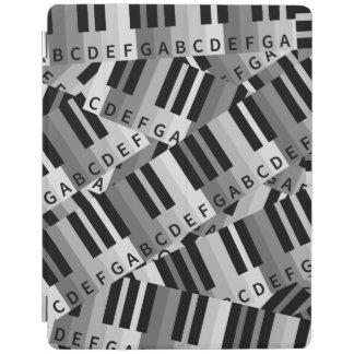 El piano cierra negro y WhitePpattern Cubierta De iPad