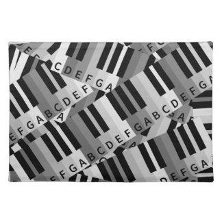 El piano cierra negro y WhitePpattern Manteles