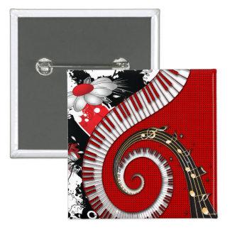 El piano cierra remolinos florales del Grunge de l Pins