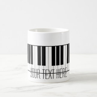 El piano conocido de encargo cierra al estudiante  taza de café