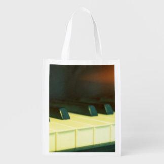 El piano de cola elegante del estilo del vintage bolsas para la compra