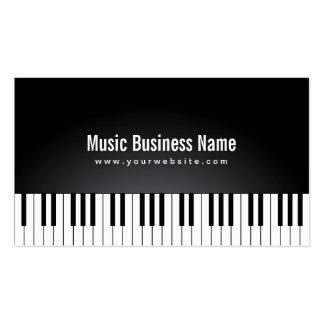 El piano de cola negro elegante cierra la tarjeta  tarjetas de visita
