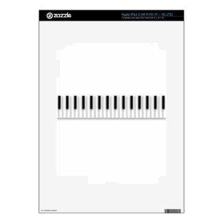 El piano de la música cierra blanco negro iPad 3 pegatinas skins