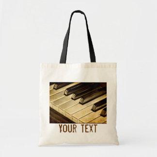 El piano del vintage cierra la bolsa de asas