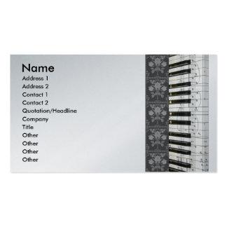 El piano florece tarjetas de visita del teclado