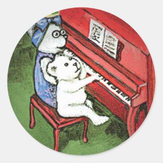 El piano lleva al pegatina
