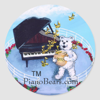El piano lleva al pegatina de las historias