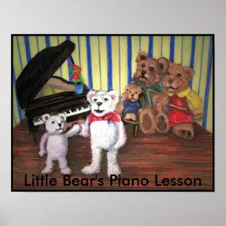El piano lleva el poster musical del carácter del