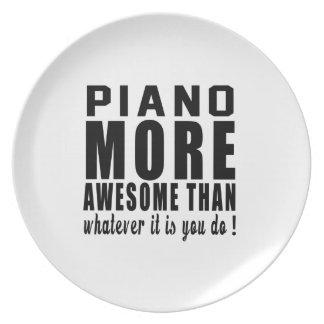 ¡El piano más impresionante que lo que es usted Platos De Comidas
