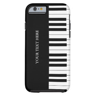 El piano negro y blanco cierra el caso del iPhone Funda De iPhone 6 Tough