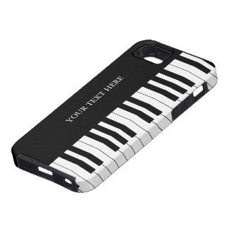 El piano negro y blanco cierra el caso del iPhone iPhone 5 Carcasas