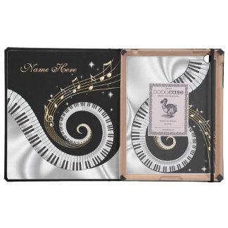 El piano que remolina cierra DodoCase iPad Protectores