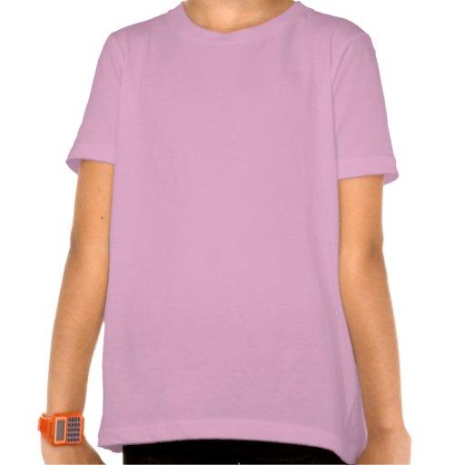 El piano rosado lindo embroma la camiseta