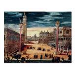 El Piazzetta di San Marco, Venecia Tarjeta Postal