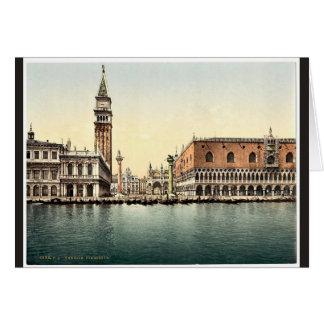 El Piazzetta, obra clásica Photochrom de Venecia,  Felicitaciones