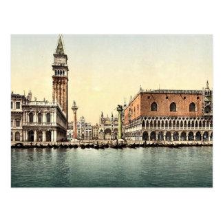 El Piazzetta, obra clásica Photochrom de Venecia,  Postal