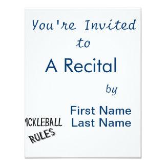 """el pickleball gobierna la bola negra de la invitación 4.25"""" x 5.5"""""""