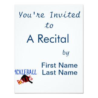 """el pickleball gobierna la paleta azul negra roja invitación 4.25"""" x 5.5"""""""