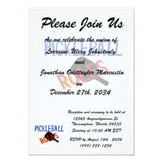 """el pickleball gobierna la paleta azul negra roja invitación 5"""" x 7"""""""