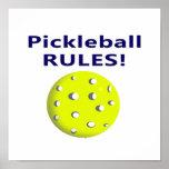 el pickleball gobierna la versión de texto azul impresiones