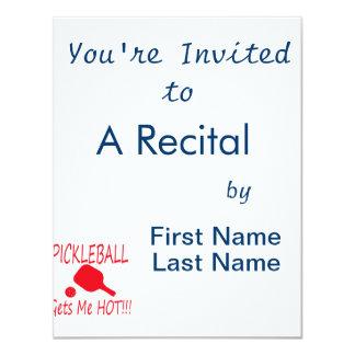 """el pickleball me consigue rojo caliente invitación 4.25"""" x 5.5"""""""