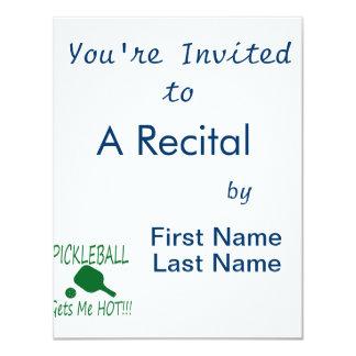 """el pickleball me consigue verde caliente invitación 4.25"""" x 5.5"""""""