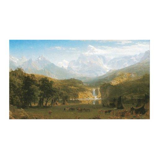 El pico del Lander, por Albert Bierstadt Impresión En Lienzo