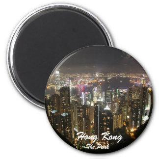 El pico, imán del paisaje de la noche de Hong Kong
