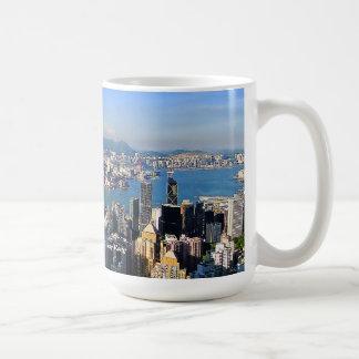 El pico taza de la isla de Victoria Hong Kong