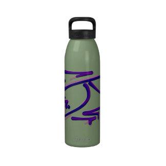 El pictograma del este, fuerza, silencia refranes  botella de agua