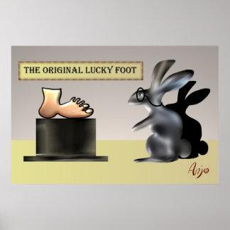 El pie afortunado de Anjo Lafin Impresiones