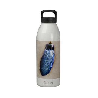 El pie de conejo afortunado azul botellas de agua reutilizables