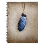 El pie de conejo afortunado azul cuaderno