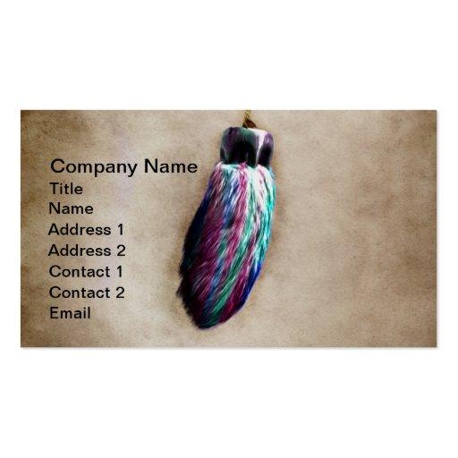 El pie de conejo afortunado colorido tarjetas de visita