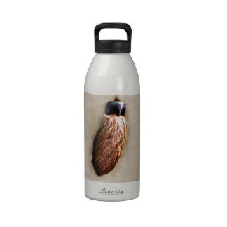 El pie de conejo afortunado de Brown Botella De Agua Reutilizable