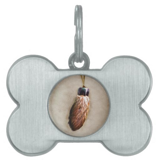 El pie de conejo afortunado de Brown Placas De Nombre De Mascota