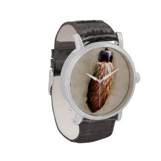 El pie de conejo afortunado de Brown Relojes De Pulsera