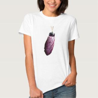 El pie de conejo afortunado púrpura playera