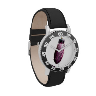 El pie de conejo afortunado púrpura relojes