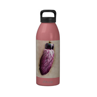 El pie de conejo afortunado rosado botella de beber