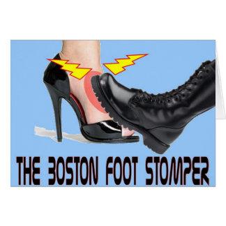 El pie Stomper de Boston Tarjeta De Felicitación
