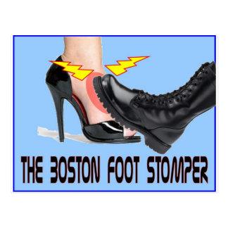 El pie Stomper de Boston Tarjetas Postales