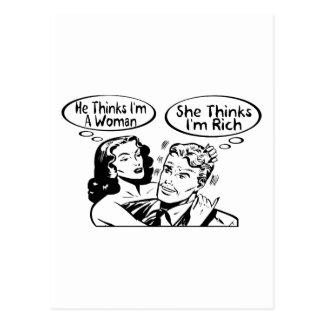 Él piensa que ella piensa postales