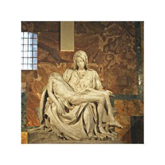 El Pieta de Miguel Ángel en la basílica de San Impresión En Lienzo Estirada