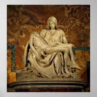 El Pieta de Miguel Ángel en la basílica de San Ped Impresiones
