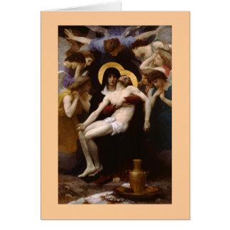 El Pieta por Bouguereau Tarjeta De Felicitación
