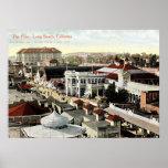 El Pike, vintage 1910 de Long Beach, California Impresiones